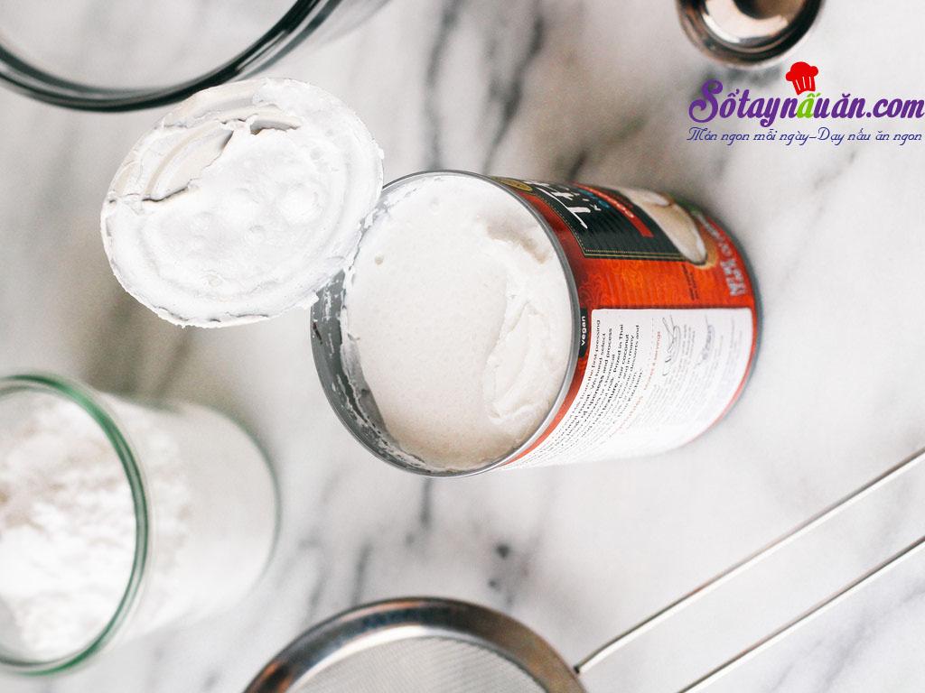 Cách làm whipped cream từ nước cốt dừa cực dễ 1
