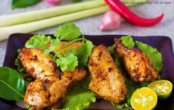 Nấu ăn món ngon mỗi ngày với 1 củ hành tím, Cánh gà nướng kiểu Thái cực ngon cực thơm kết quả