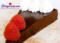 Làm bánh truffle chocolate không cần bột mì