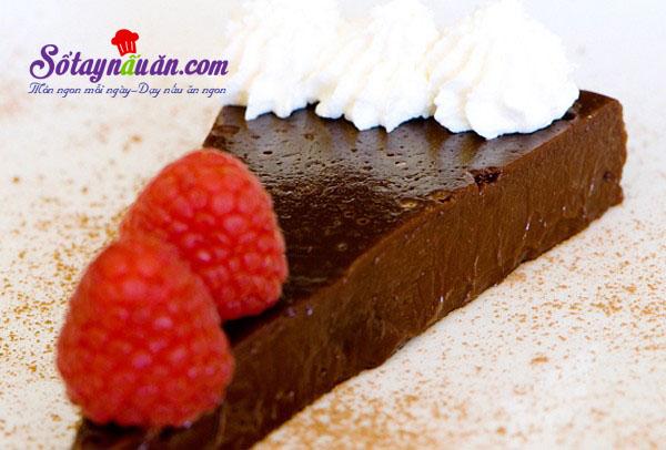 Làm bánh truffle chocolate không cần bột mì kết quả