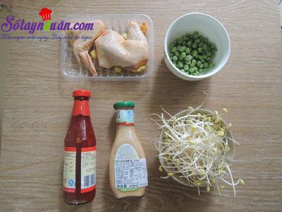 Nộm gà chua ngọt - thực đơn giảm cân nguyên liệu