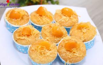 Làm bánh nướng, cách làm bánh bông lan trứng muối 10
