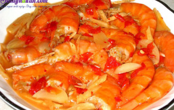 Nấu ăn món ngon mỗi ngày với Đường cát trắng, cách làm tôm chua ngọt 3