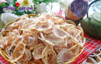 Nấu ăn món ngon mỗi ngày với 20gr đường, Bánh tai heo khoai lang - món ăn vặt ngon tuyệt kết quả