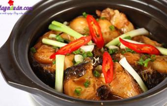 Nấu ăn món ngon mỗi ngày với Hành lá, cách làm cá thu kho nước dừa 4