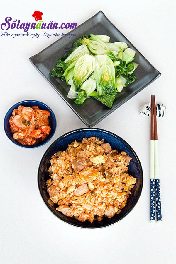 Cách làm cơm chiên kimchi cay mà tuyệt ngon kết quả