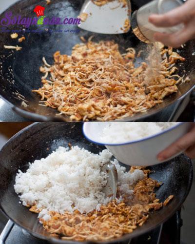 Cách làm cơm rang ngon bá cháy 6