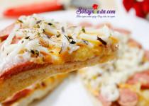 Học cách làm bánh pizza giăm bông đơn giản tại nhà