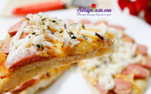 Học cách làm bánh pizza giăm bông đơn giản tại nhà 8