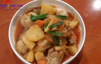 Nấu ăn món ngon mỗi ngày với Đùi gà, cách làm gà om cay 7