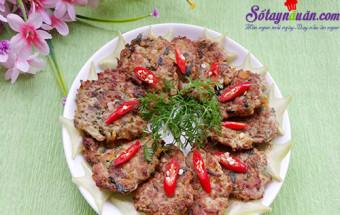 Nấu ăn món ngon mỗi ngày với Thịt băm, cách làm chả rươi 7