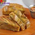 cách làm bánh crepe sầu riêng, cách làm bánh chuối nướng 2