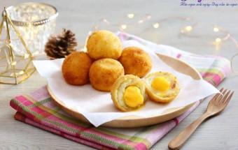 món ăn vỉa hè, Cách làm khoai tây bọc phô mai chi ên giòn ngon mê mẩn 6