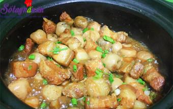Nấu ăn món ngon mỗi ngày với Thịt ba chỉ, cách làm thịt ba chỉ kho nấm rơm 5
