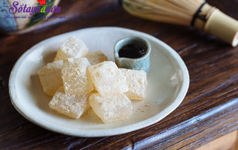 Món ăn vặt, Cách làm warabi mochi - bánh quý tộc Nhật Bản 6