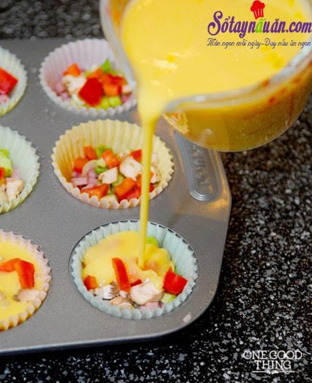 Độc đáo với trứng hấp cupcake ngon tuyệt ngon 4