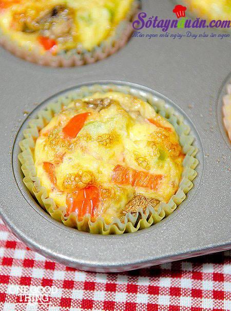 Độc đáo với trứng hấp cupcake ngon tuyệt ngon 5