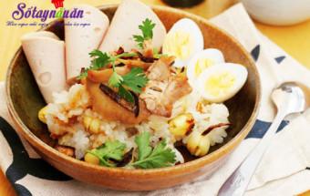 Nấu ăn món ngon mỗi ngày với 3 củ hành tím, Hướng dẫn nấu xôi gà hạt sen cho bữa sáng dinh dưỡng 7
