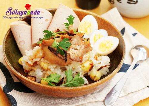 Hướng dẫn nấu xôi gà hạt sen cho bữa sáng dinh dưỡng 7