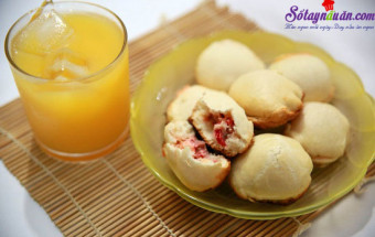 Món ăn sáng, cách làm bánh quy bọc xúc xích 12
