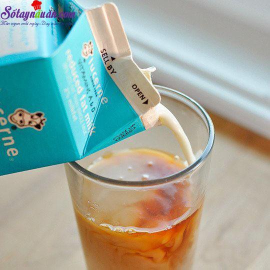 cách làm trà sữa trà xanh 6