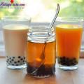 trà đào, cách làm trà sữa trà xanh 8