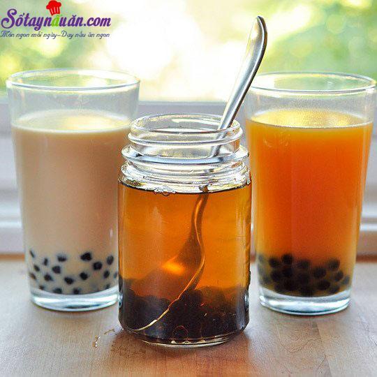 cách làm trà sữa trà xanh 8