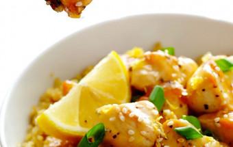 Nấu ăn món ngon mỗi ngày với Tương ớt, cách làm gà sốt chanh mật ong 1
