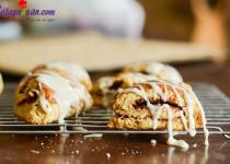 Hướng dẫn làm bánh scones cuộn hương quế ngon ngất ngây