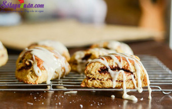 Nấu ăn món ngon mỗi ngày với Bơ, cách làm bánh scones cuộn hương quế 18