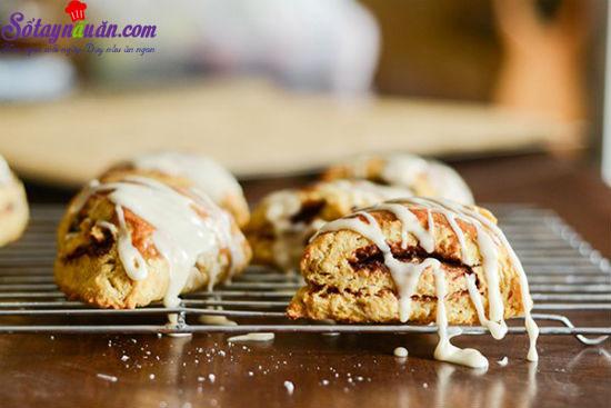 cách làm bánh scones cuộn hương quế 18
