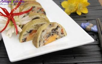 Nấu ăn món ngon mỗi ngày với Lá chuối, cách làm giò ngũ sắc 1