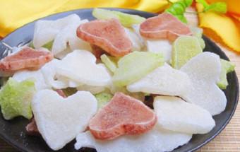 Nấu ăn món ngon mỗi ngày với Bột trà xanh, cách làm mứt dừa non 1