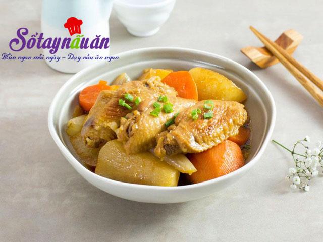 Cánh gà kho củ cải ngon mê mẩn khi ăn cùng cơm