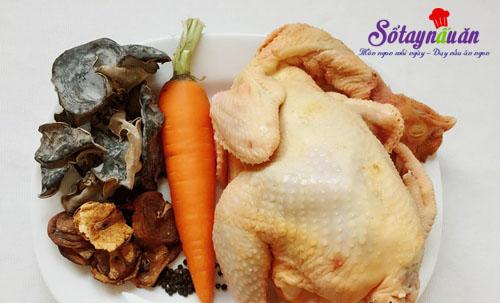 Thịt gà nấu đông đậm đà hương vị Tết nguyên liệu