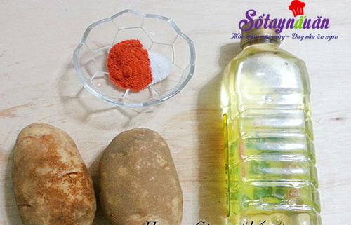 Tự làm bim bim khoai tây lắc muối ớt giòn sần sật nguyên liệu