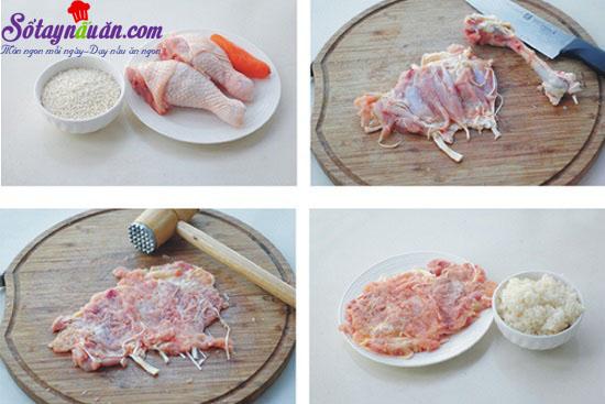 cách làm gà cuộn 1