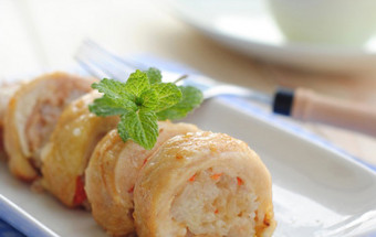 Nấu ăn món ngon mỗi ngày với Đùi gà, cách làm gà cuộn 6