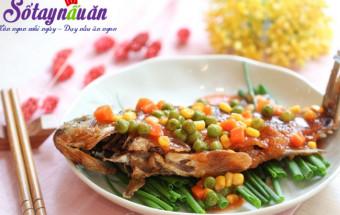 Nấu ăn món ngon mỗi ngày với Hành lá, Cá sốt đậm đà mâm cơm cuối tuần kết quả