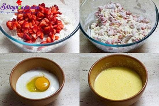 cách làm bánh dâu nướng 6