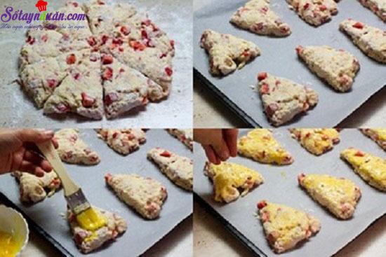 cách làm bánh dâu nướng 8