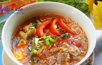 Nấu ăn món ngon mỗi ngày với Đậu phụ, Cách làm bún riêu cua nóng hổi ngon đậm đà kết quả