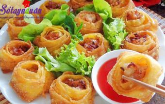 Nấu ăn, Cách làm hoành thánh hình hoa siêu giòn rụm kết quả