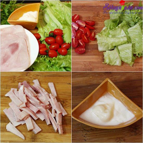 cách làm salad trộn dầu giấm 1