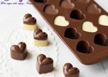 Cách làm socola trái tim cho valentine thêm ấm áp