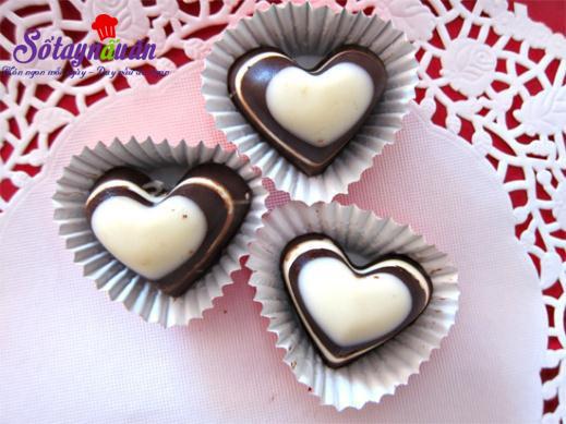 Cách làm socola trái tim cho valentine thêm ấm ấp 6