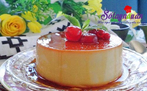 Hướng dẫn làm bánh flan pudding mát lạnh, thơm ngon 7