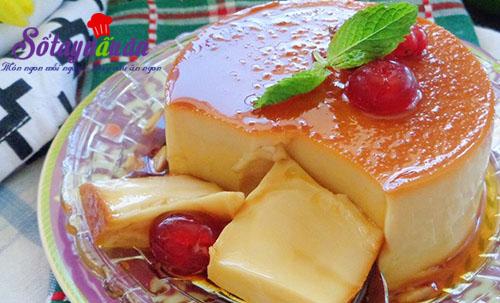Hướng dẫn làm bánh flan pudding mát lạnh, thơm ngon kết quả