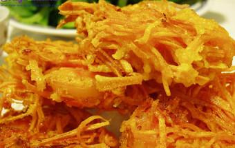hướng dẫn cách nấu ăn ngon hàng ngày, cách làm bánh tôm chiên khoai lang 1