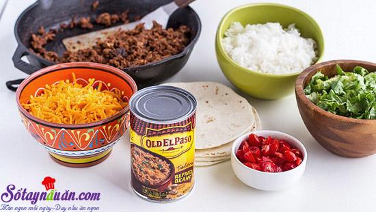 cách làm bánh taco hình nón 2